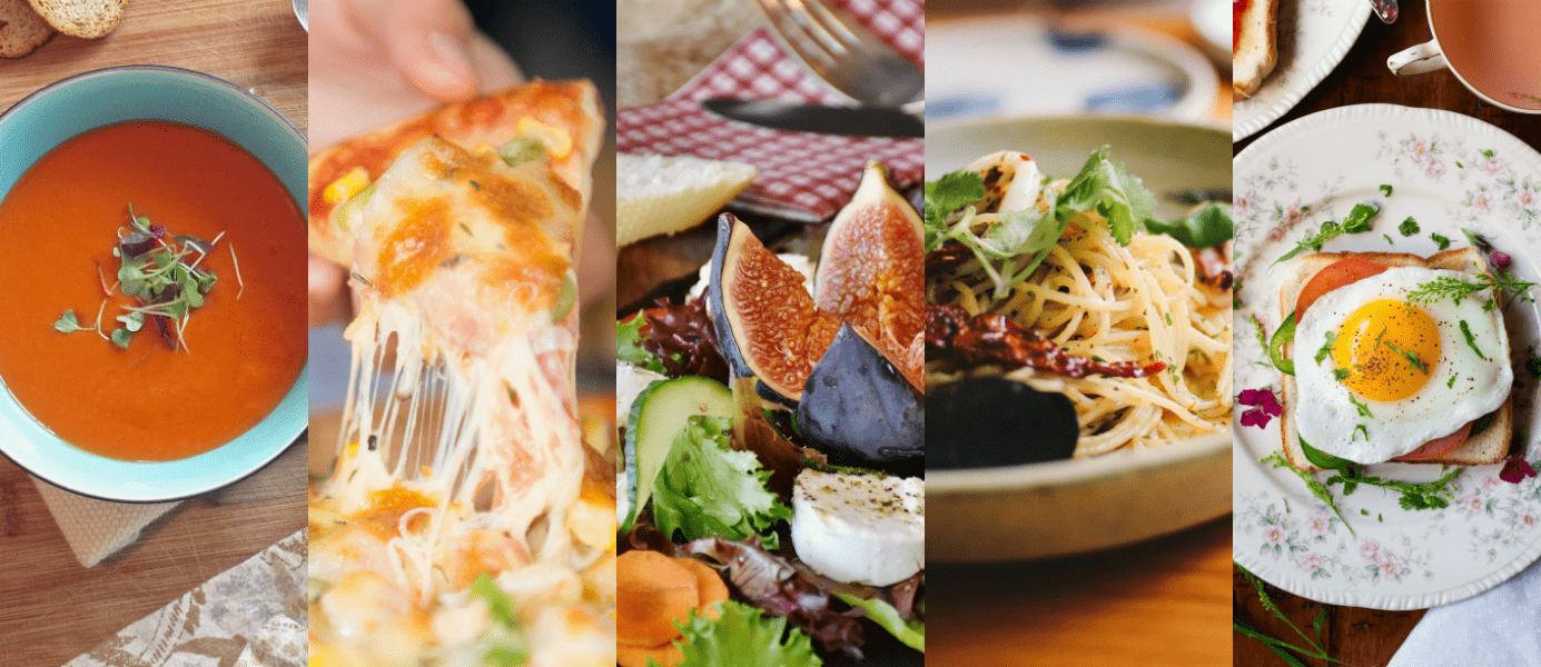 From soup and salad to grilled cheese and pasta, there are plenty of delicious ways to get your grub on when you're flying solo!