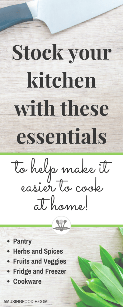 Keep these essentials on hand to help ensure cooking at home's a breeze!