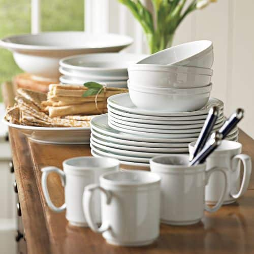 Williams-Sonoma pantry dinnerware white dishes