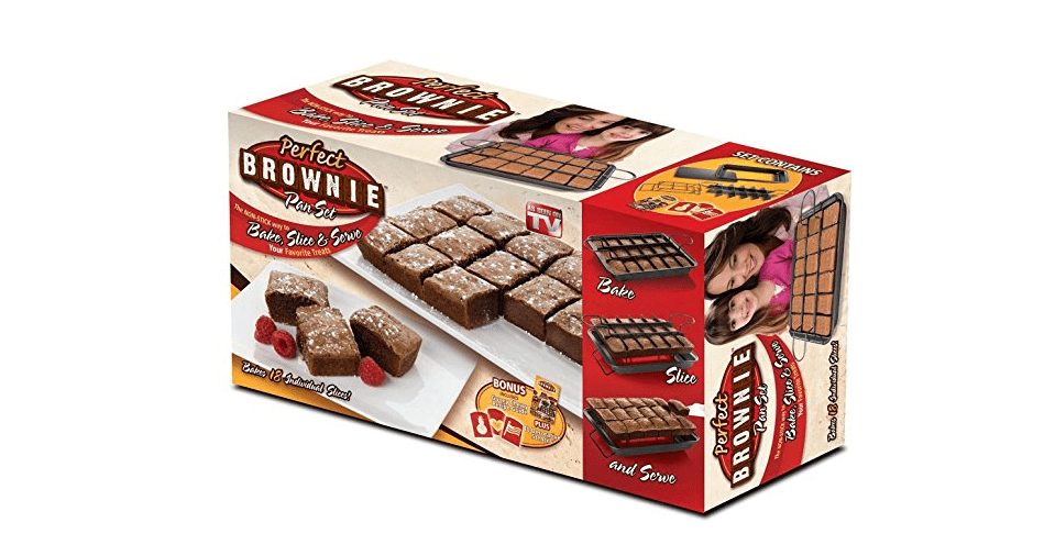 What's up with infomercials, anyway—by the way, have you tried the Perfect Brownie Pan?