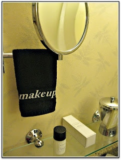 Black Makeup Towel