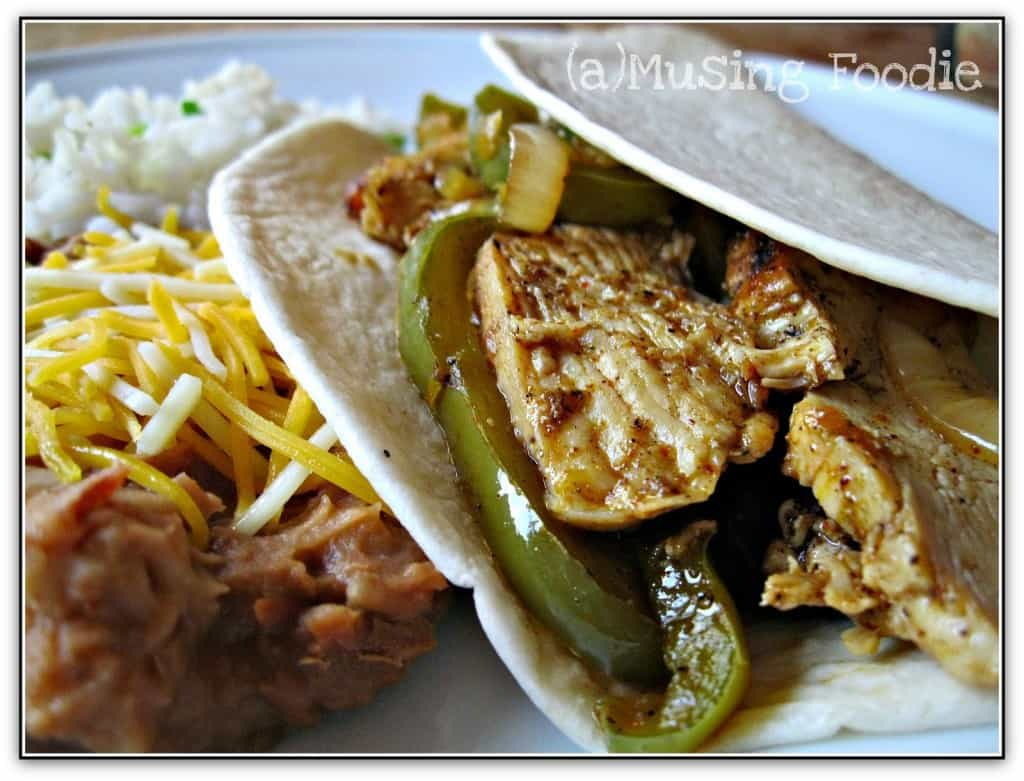 Seared Chicken Fajitas