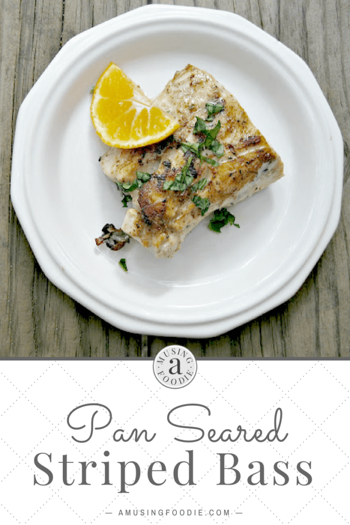 Pan seared striped bass, freshly caught from Smith Mountain Lake in Virginia!
