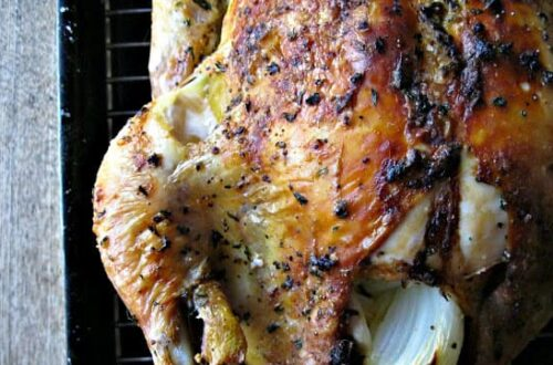Roast Chicken with Clementines