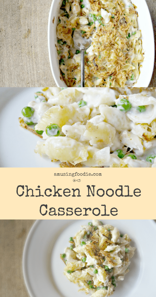 Chicken noodle casserole is a comforting throwback meal that's easy to make, and perfect to feed a crowd.