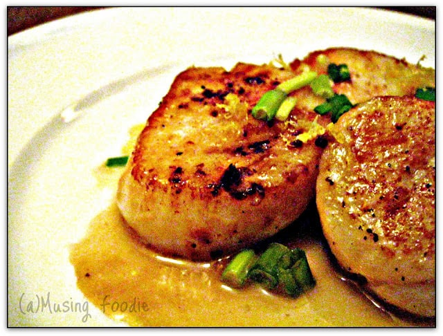 ... scallops with chili butter shrimp and scallops in a lemon butter sauce