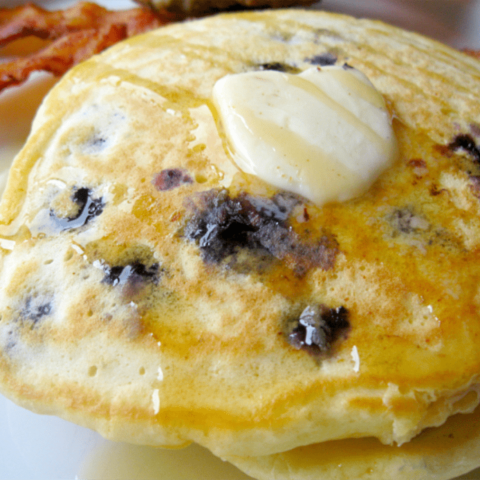 These sweet and slightly tangy blueberry lemon pancakes will become a fast favorite in your house!