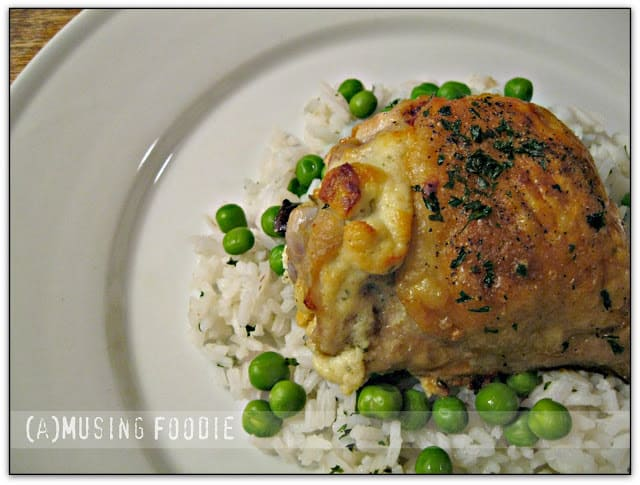 Roast Chicken Thighs Stuffed with Garlic & Herb Goat Cheese | (a ...