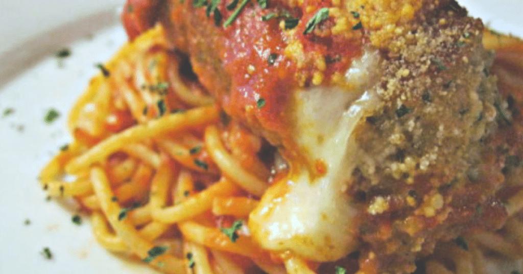 Stuffed chicken parm is an ooey-gooey twist on an Italian classic.