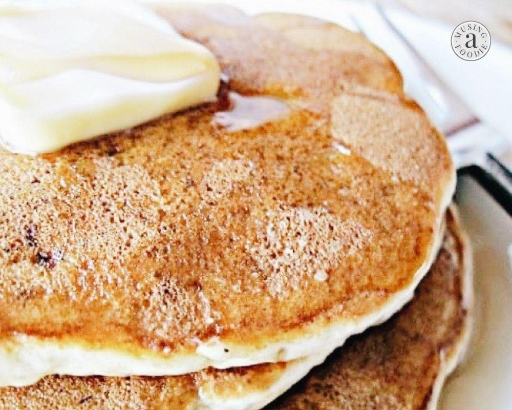 Close-up of banana pancakes