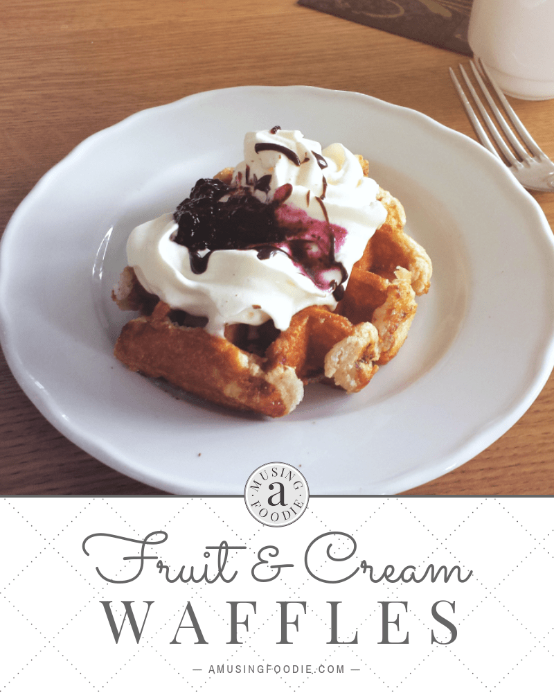 These fruit and cream waffles can be an easy weekend breakfast or a quick, yummy weeknight meal!