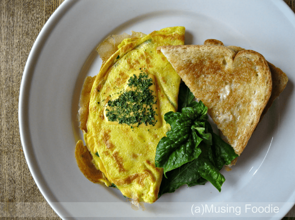 Fresh Spinach and Lump Crab Omelettes