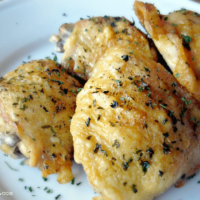 Easy Oven-Fried Chicken Thighs with Perfectly Crispy Skin
