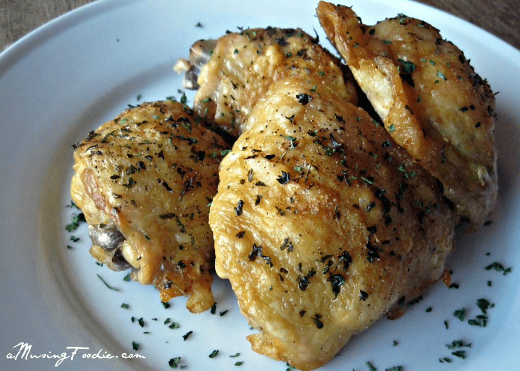 Easy Oven Fried Chicken Thighs