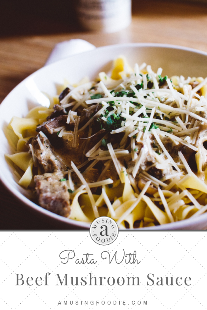 Mushrooms are the star of the show with this simple beef pasta dish that's ready in fifteen minutes!