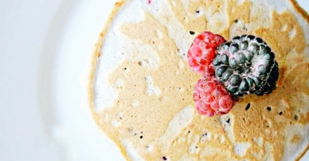 Close-up of berry pancakes
