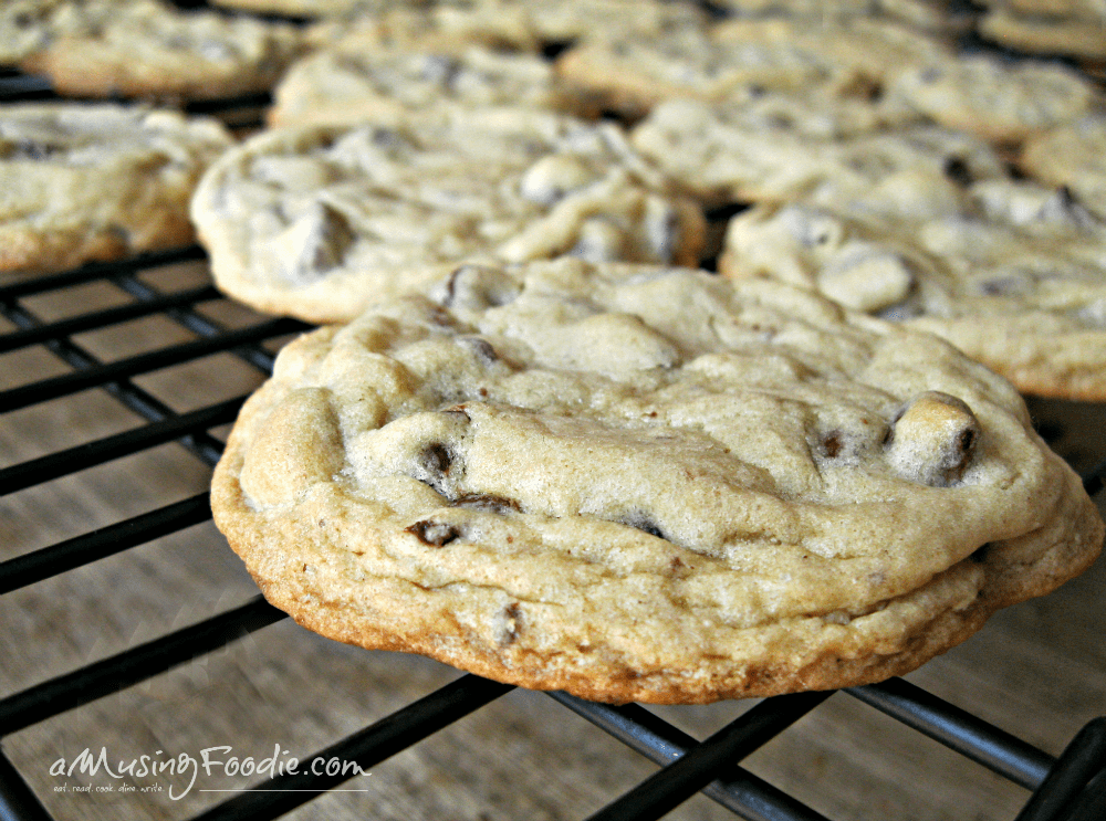 These classic soft and chewy chocolate chip cookies will have you coming back for more. Best eaten warm with a cold glass of milk!