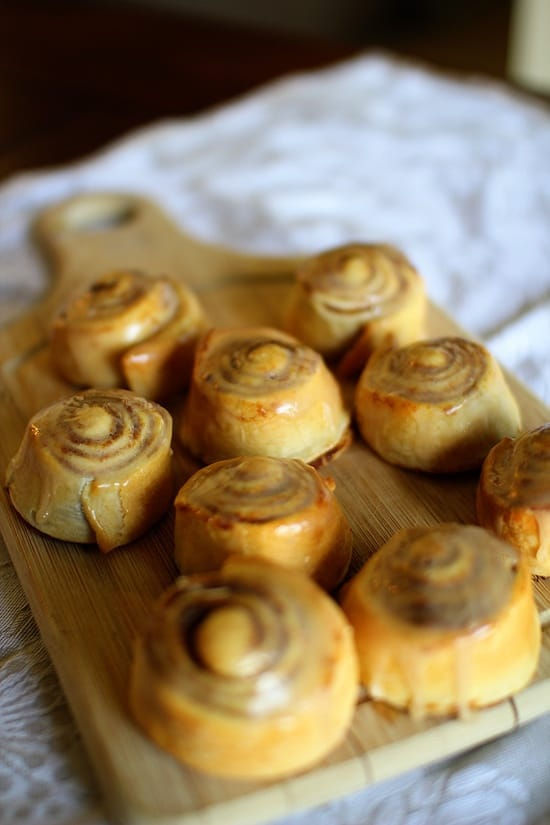 100 Calorie Pumpkin Rolls with Maple Icing from DashingDish.com | (a ...