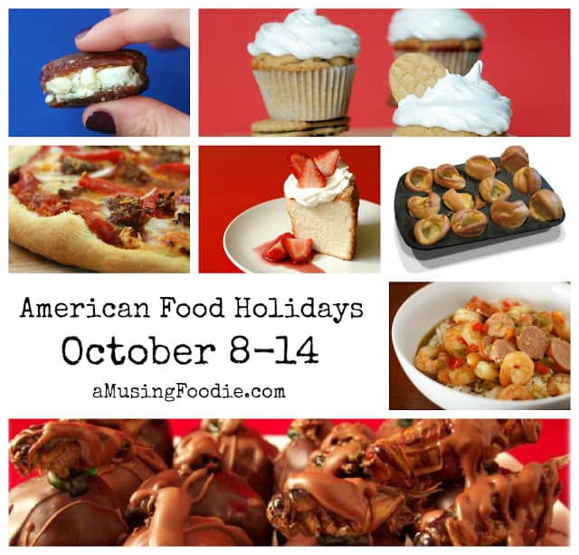 american food holidays, october food holidays