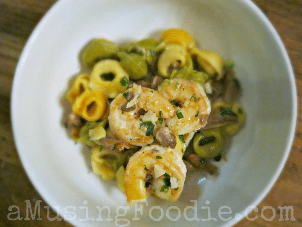 Garlic, Shrimp and Mushroom Tortellini