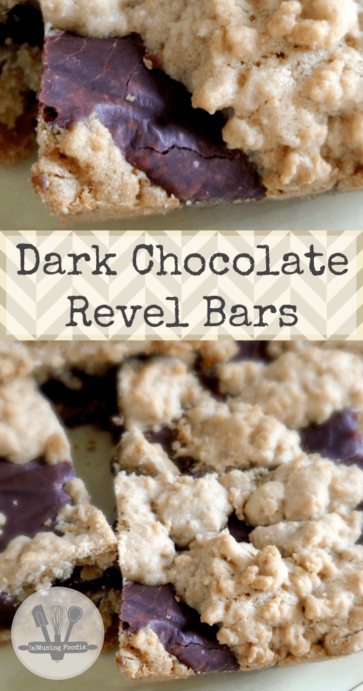 Dark chocolate revel bars are a classic, rich and delightful dessert treat that go perfectly with a warm mug of coffee or cocoa!