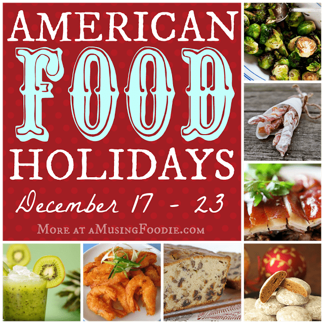 american food holidays, national food holidays, christmas,