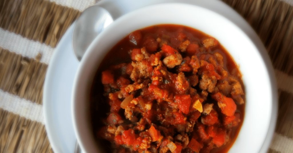 No Bean Pork Chili