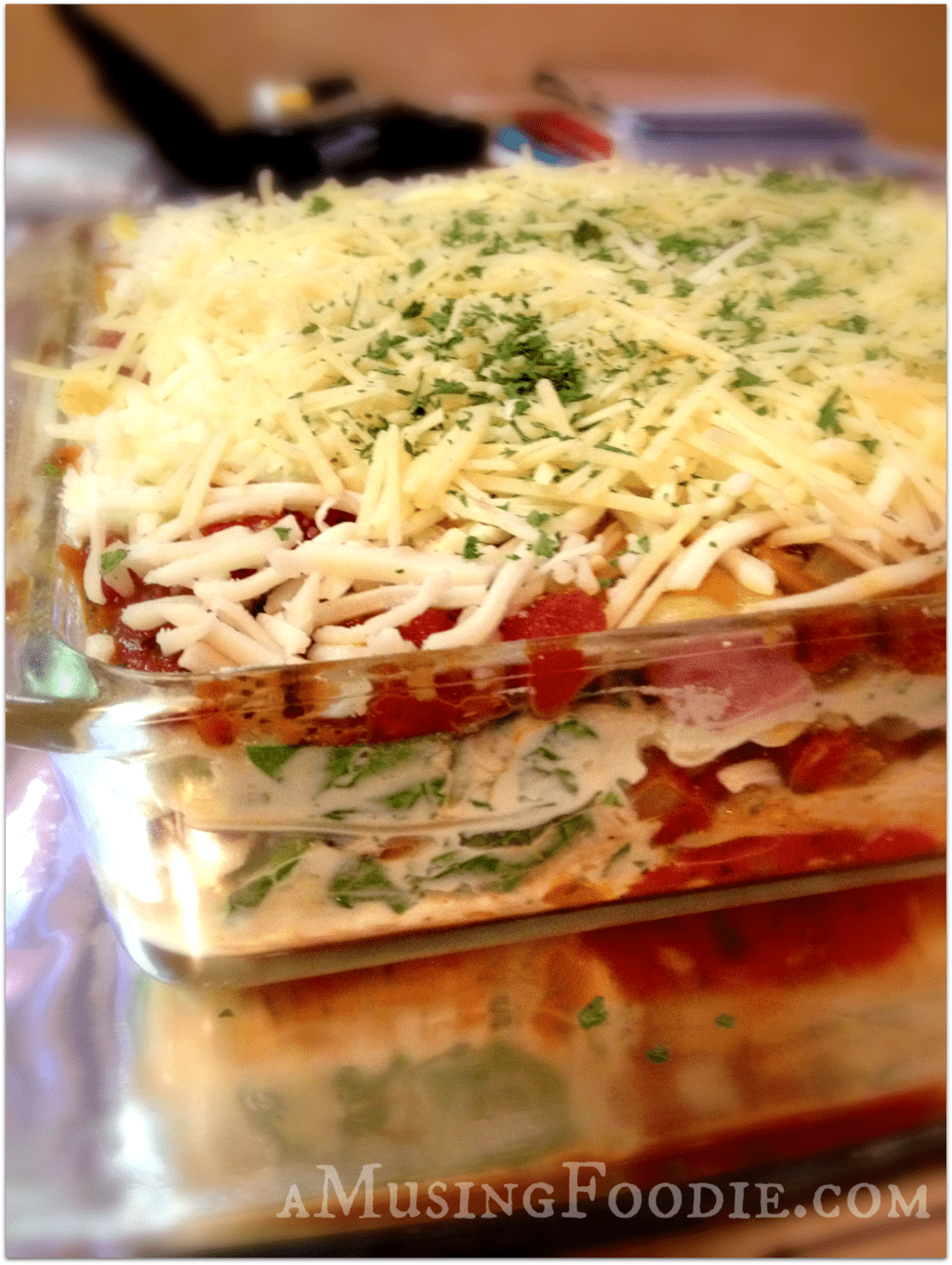 Spinach, Mushroom and Italian Sausage Lasagna | (a)Musing Foodie