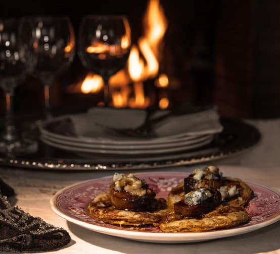 """Crunchy fig and bleu cheese tarts from """"The Unofficial Downtown Abbey Cookbook."""""""
