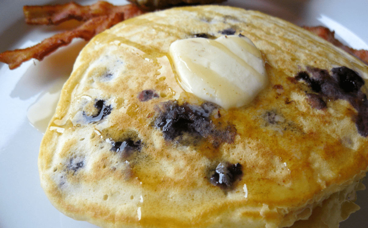 Homemade blueberry pancakes are super easy to make on the weekend and perfect to reheat during the week for an easy breakfast!