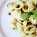 Orecchiette pasta with parmesan and pistachios