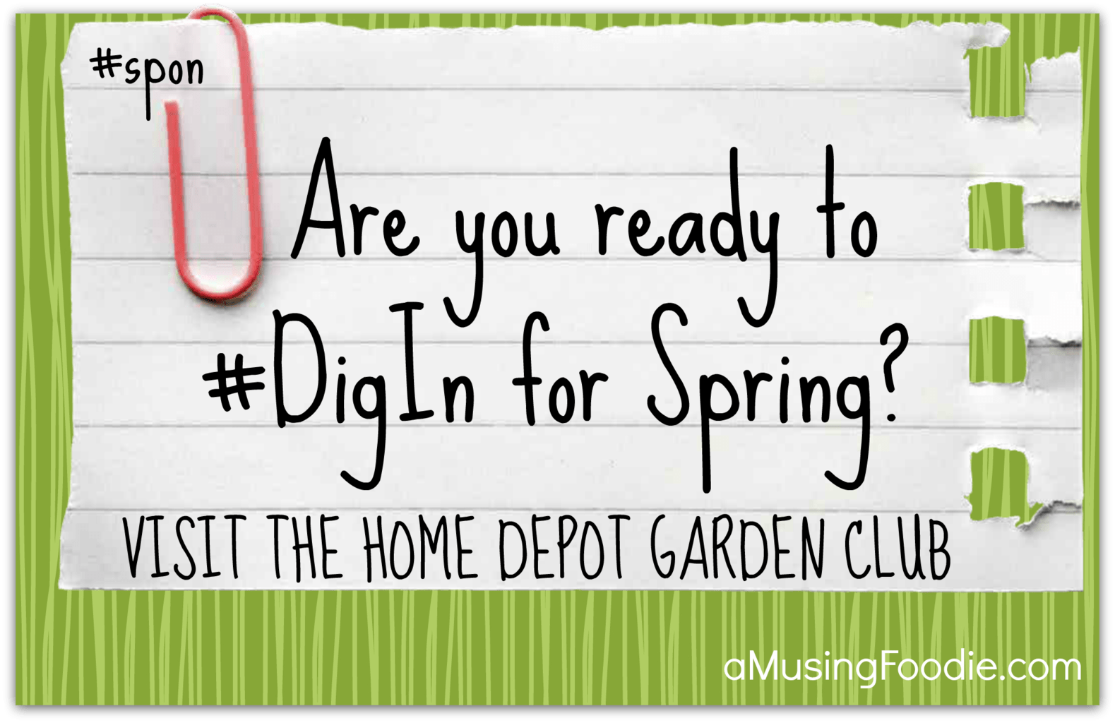 Join the Home Depot Garden Club #DigIn