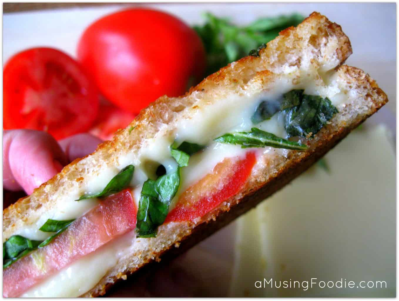 How to make an American Caprese Grilled Cheese Sandwich