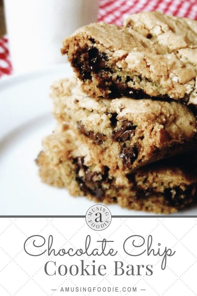 Close-up of cut chocolate chip cookie bars