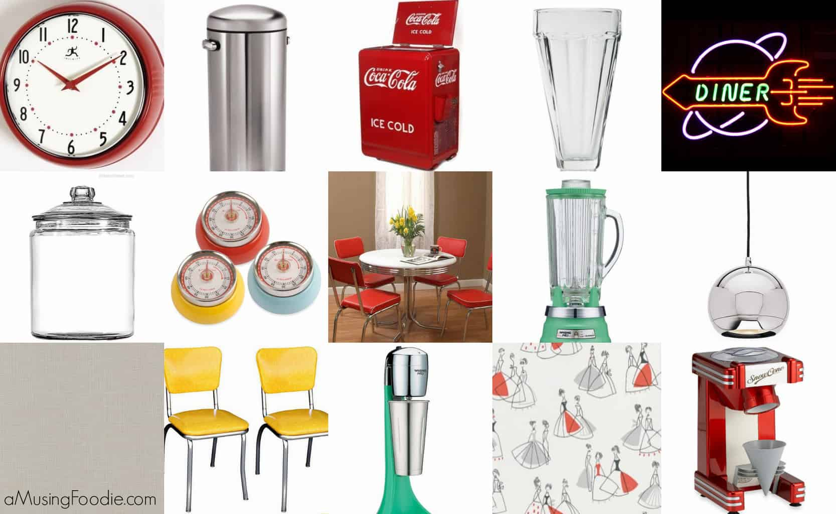 how to make a 50s diner kitchen