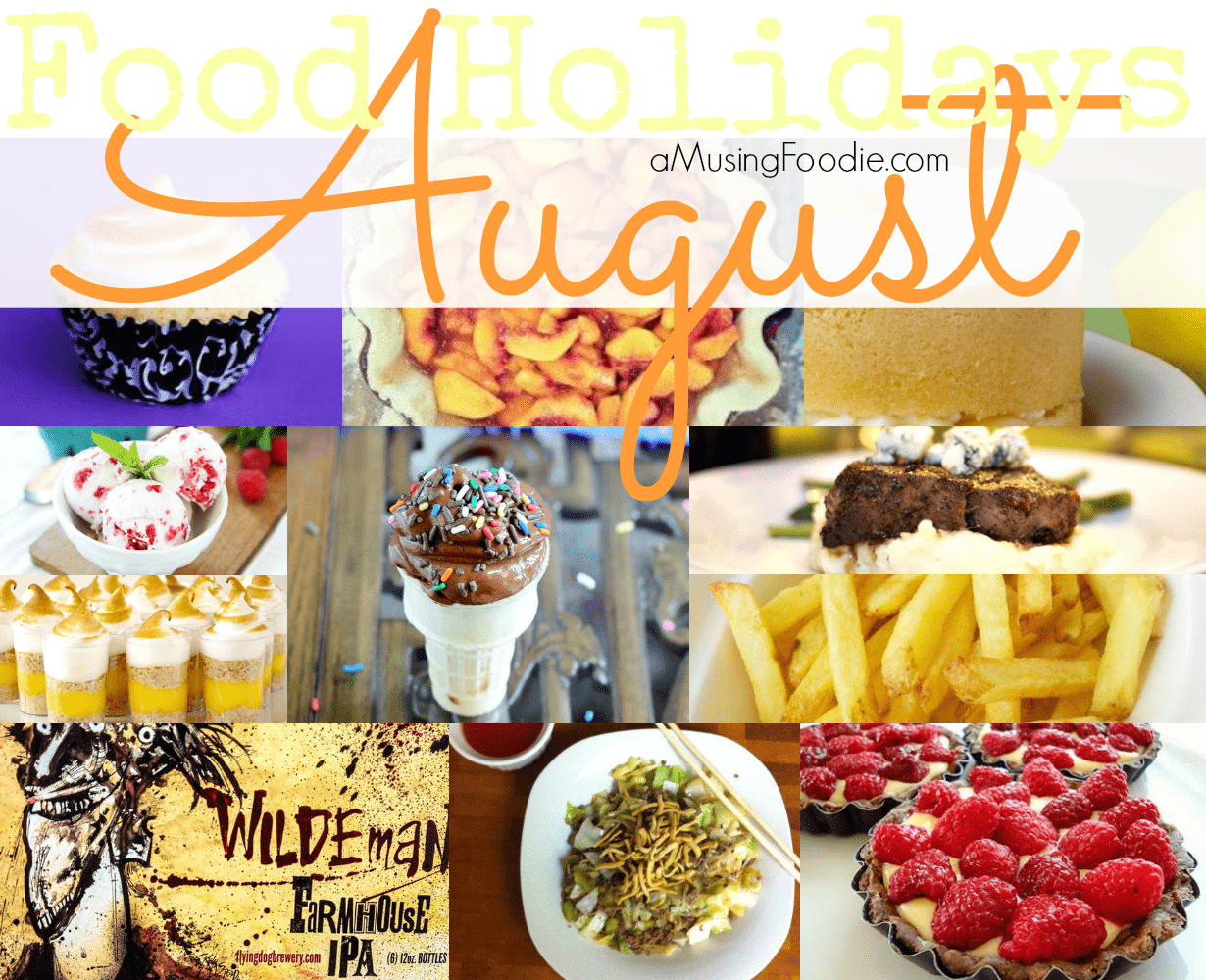 august food holidays, national food holidays, american food holidays