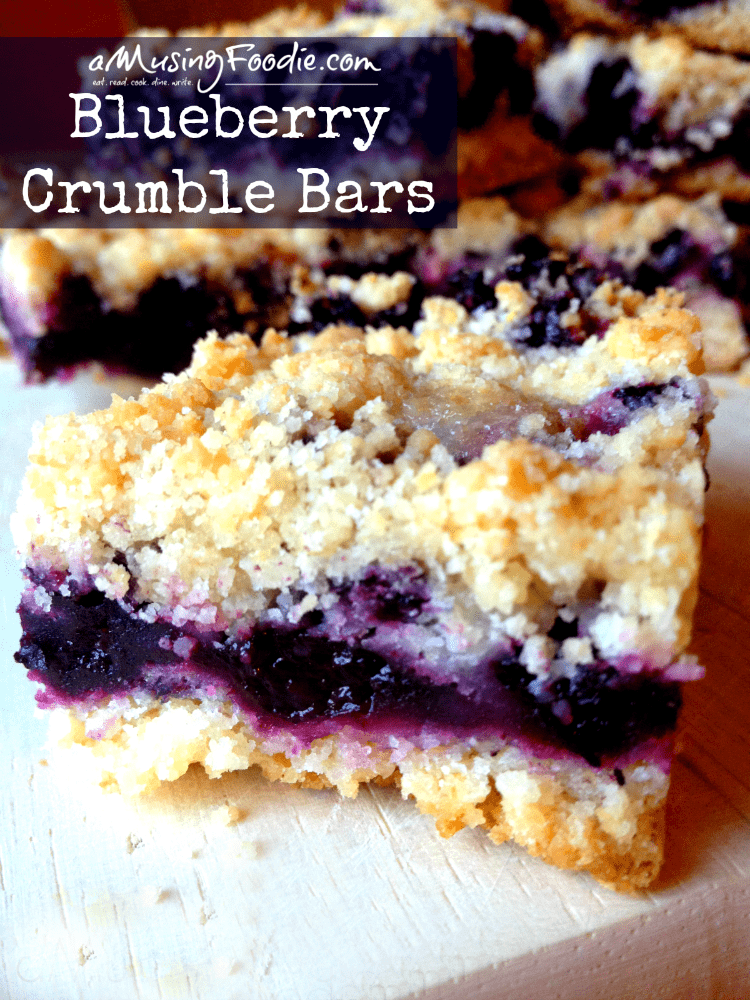 Blueberry Crumble Bars - so easy, and so yummy!
