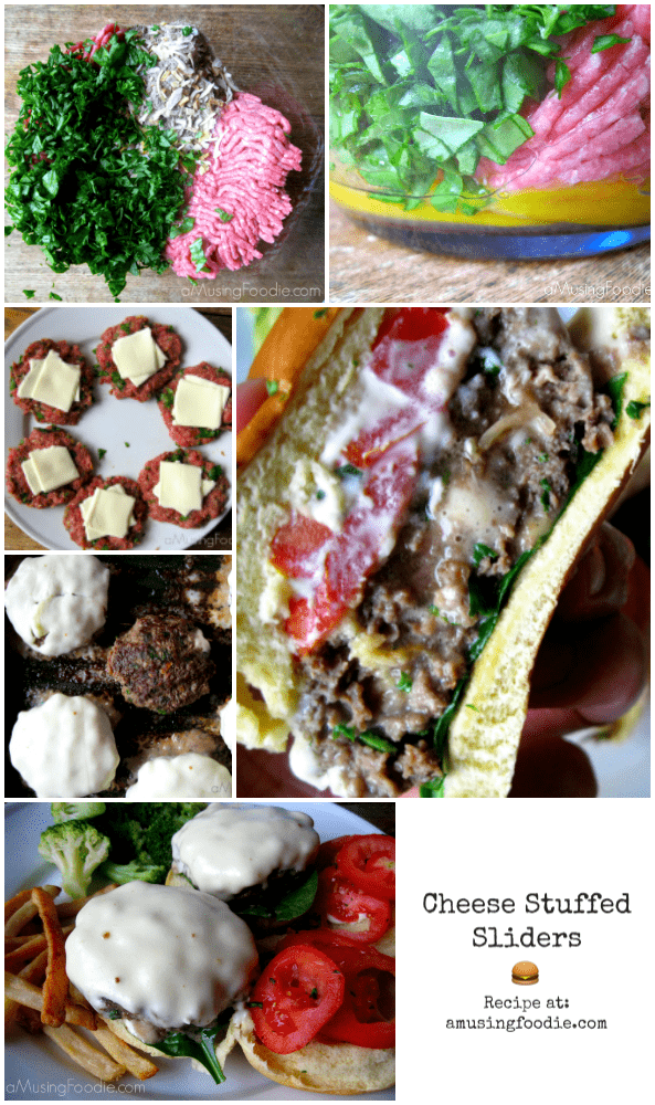 Cheese stuffed sliders are an easy alternative to a traditional cheeseburger! Bonus: kids love them!