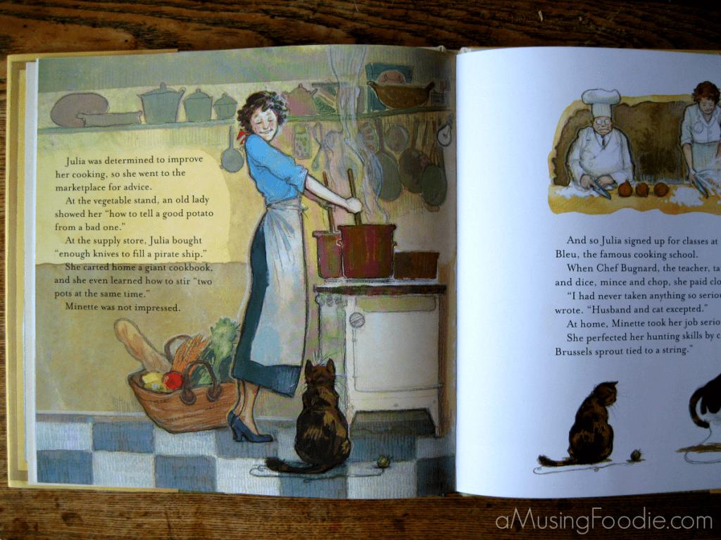 Minette's Feast, Julia Child Children's Book, Julia Child