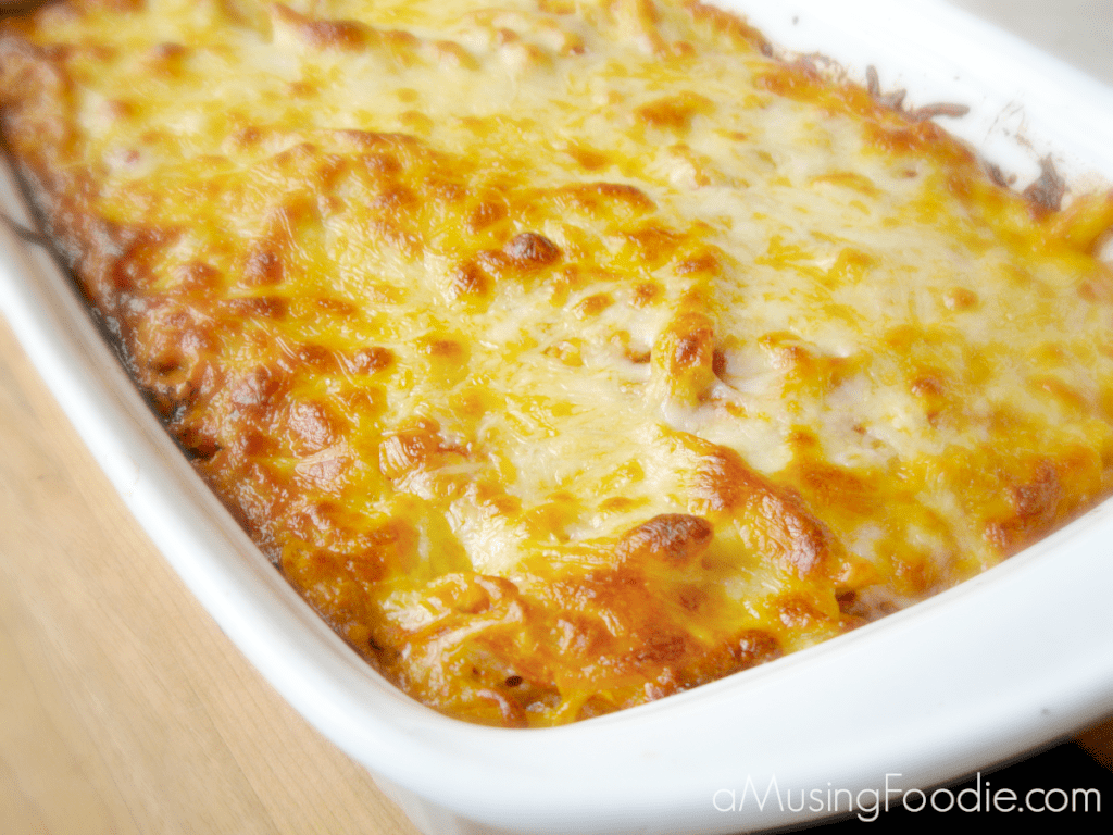 This yummy baked ziti recipe makes enough to feed a crowd or to portion out for leftovers!