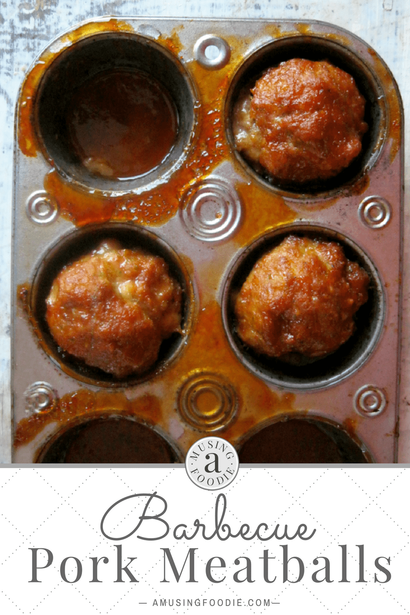 "These barbecue pork meatballs, made right in a muffin tin, are a perfect ""busy weeknight"" dinner solution!"