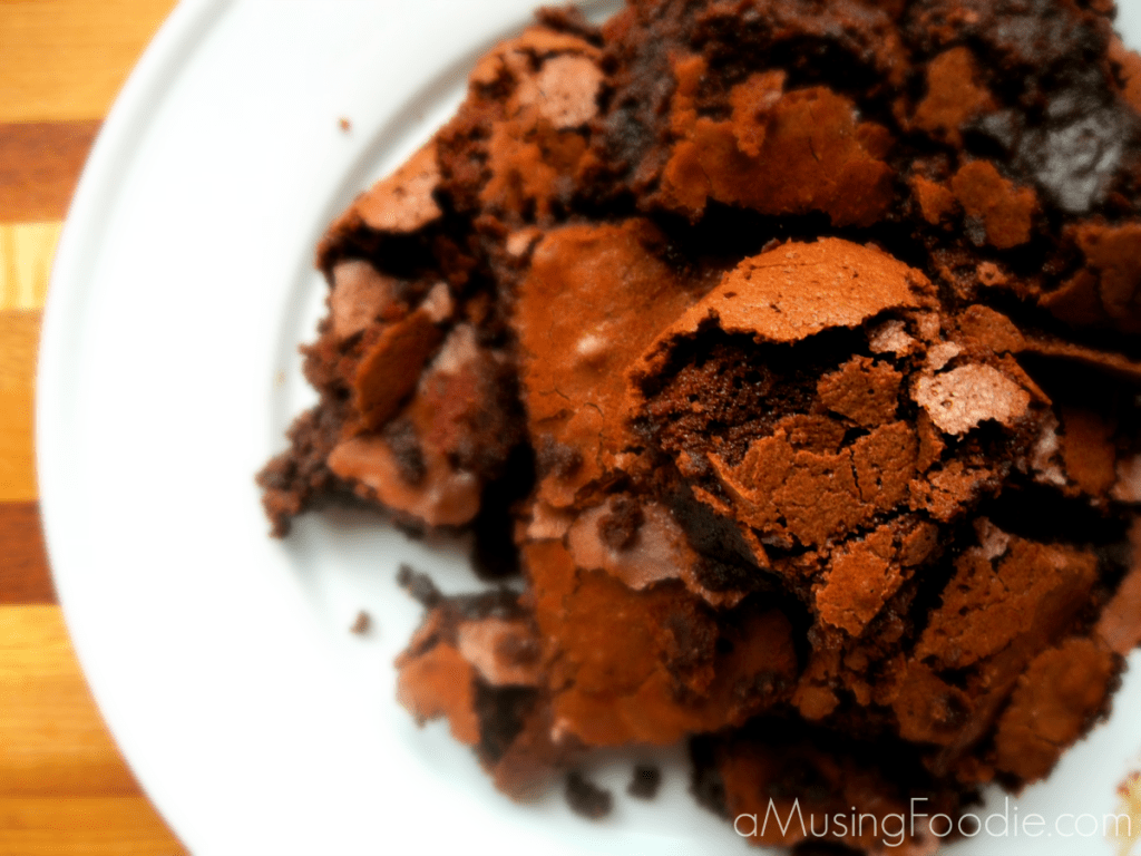 A couple of years ago I discovered that bakingrich and chewy cocoa brownies from scratch was just as easy as making the boxed variety.