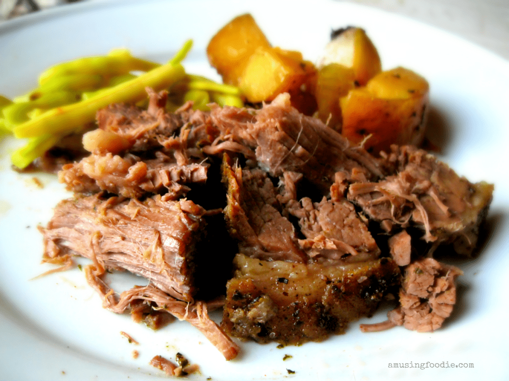 Is there anything better than slow cooker beef and potatoes??