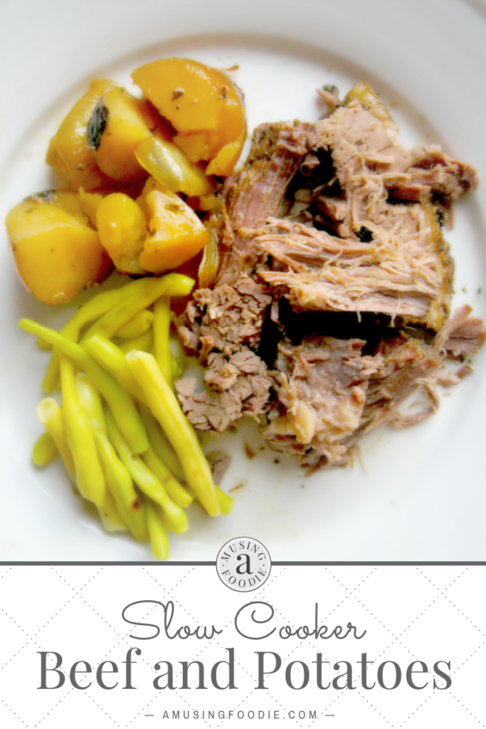 Slow cooker beef and potatoes is the perfect comfort food for a chilly fall or winter evening.