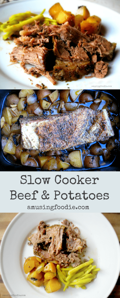 Slow cooker beef and potatoes ... is there anything better when the weather start to get cool? This is SUCH a comfort food, and soooo easy to make!