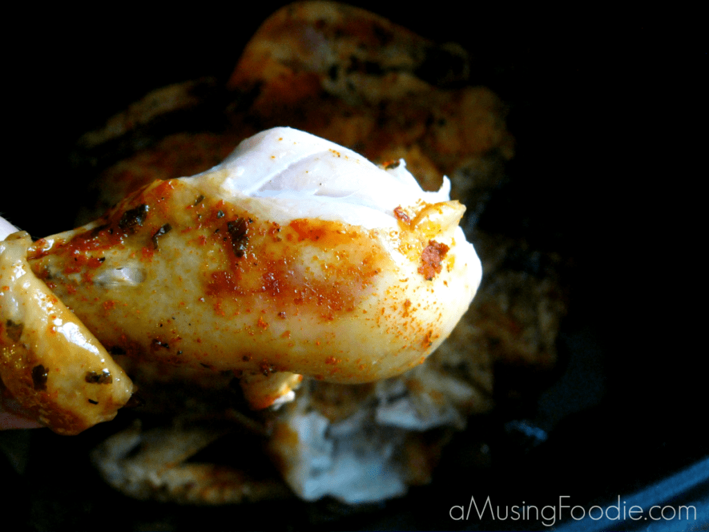 whole chicken in the slow cooker