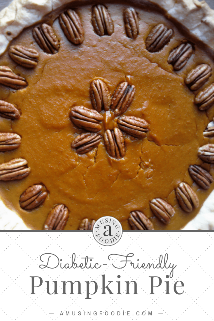 This diabetic-friendly pumpkin pie, sweetened with stevia, is the perfect addition to a Thanksgiving feast. Make it when you can't (or don't want to) use cane sugar!