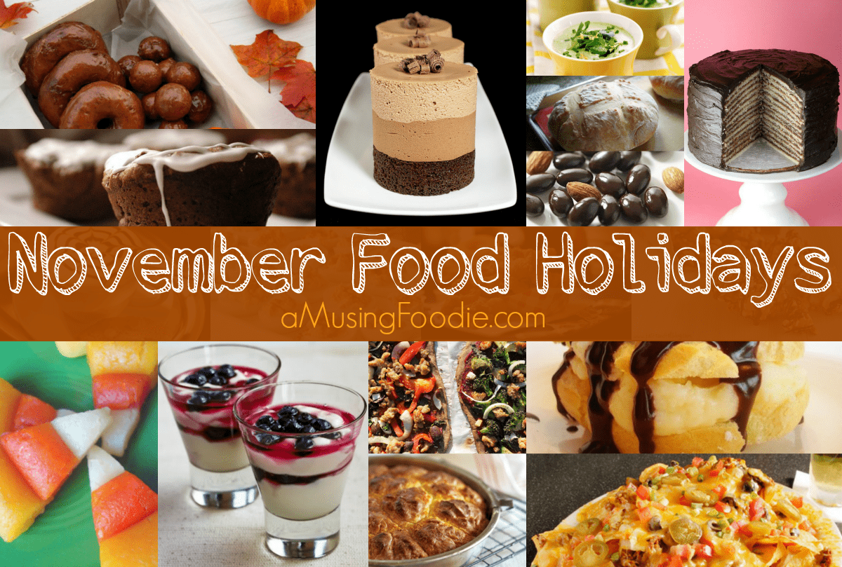 november food holidays, food holidays, national food holidays, american food holidays
