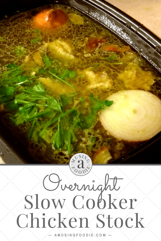 After making this overnight slow cooker chicken stock you'll never go back to store-bought!