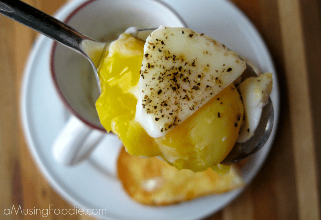 Poached Egg in a Mug Bite